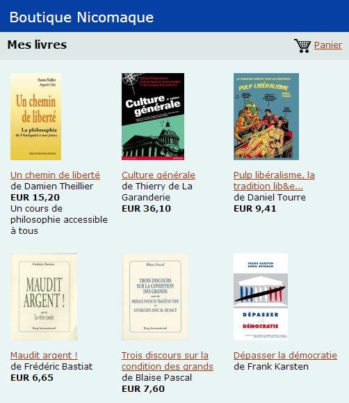 boutique mes livres