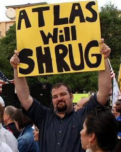 atlas shrugged man w sign